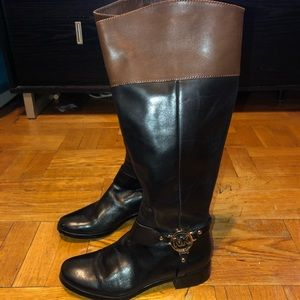 Michael Kors rider boots brown and black size 7.5
